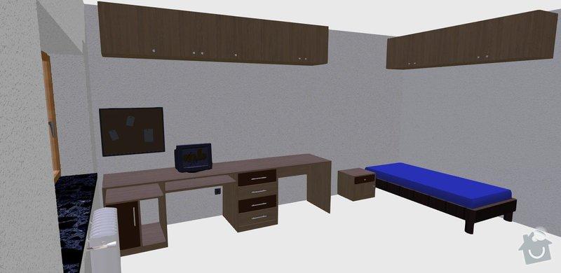 Vybavení pokoje nábytkem na míru: pohled_1