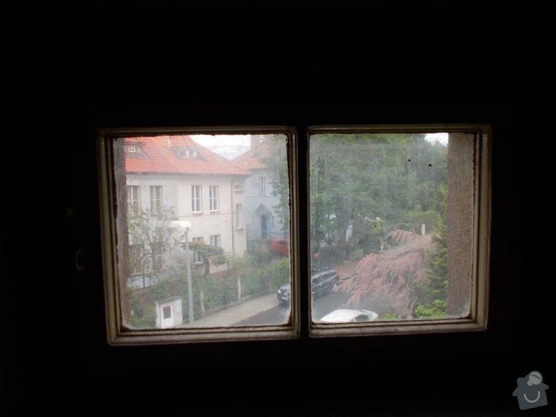Výroba a montáž dřevěných oken: OknoJVu_schodu