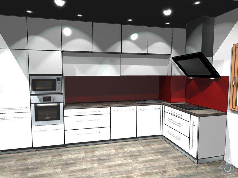 Skleněný obklad za kuchyňskou linku: kuchyne