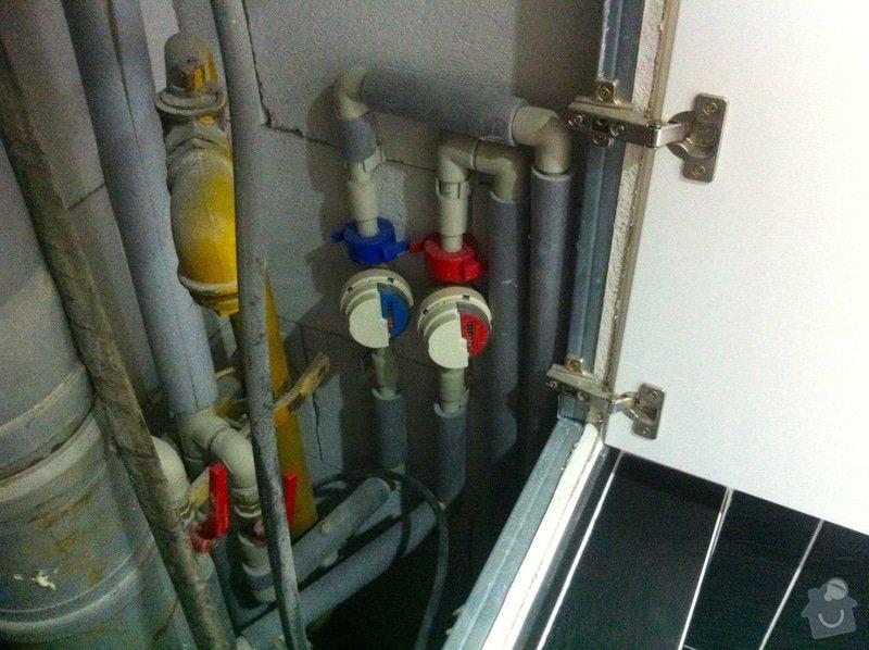 Instalace vodního filtru do potrubí v bytě: IMG_6217