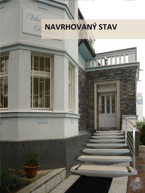 Stavební práce: schodiste_NAVRHOVANY_STAV