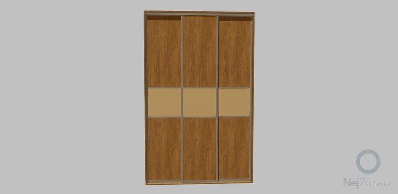 Šatní skříň na míru: dvere