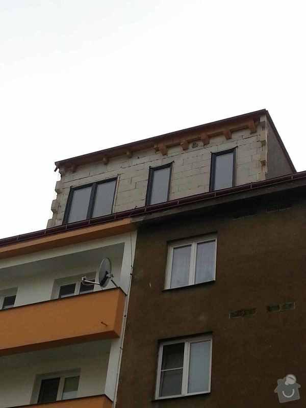 Oblozeni zateplenim multipor + modrinovymi latemi: vikyr_z_ulice