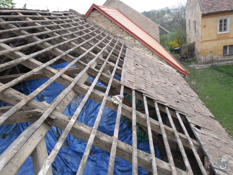 Oprava střechy pergoly.: SAM_0657
