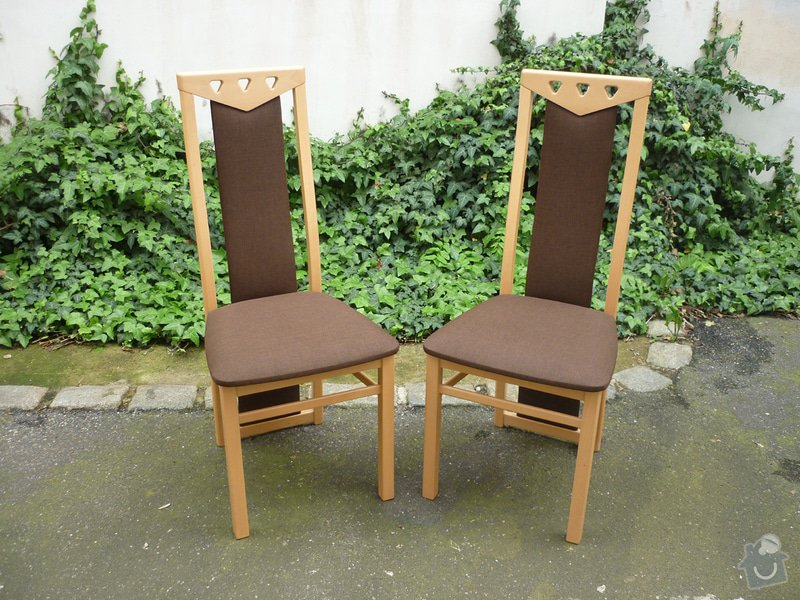 Přečalounění 2 jídelních židlí: P1040417