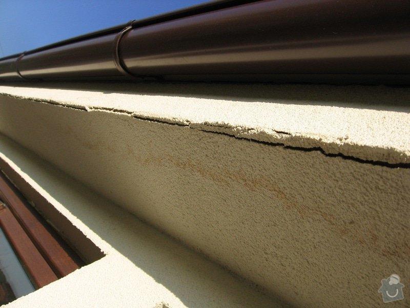 Rekonstrukce střechy přístavby: nastavba_omitka