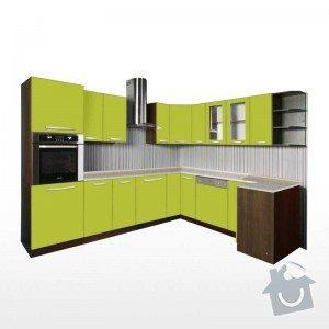 Výroba nových kuchyňských dvířek: zelena