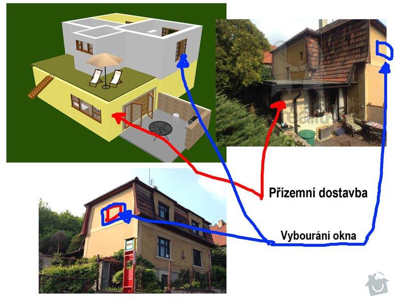 Rekonstrukce rodinného domu: 3D_stav