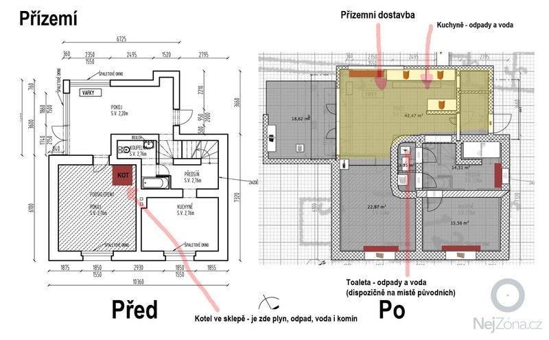 Rekonstrukce rodinného domu: Prizemi