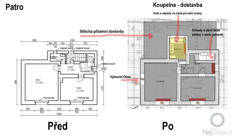 Rekonstrukce rodinného domu: Patro