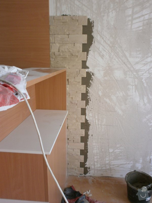 Obklad umělým kamenem v interiéru: P5260159