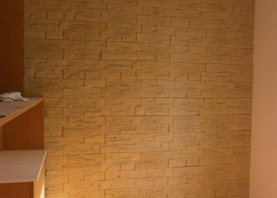 Obklad umělým kamenem v interiéru