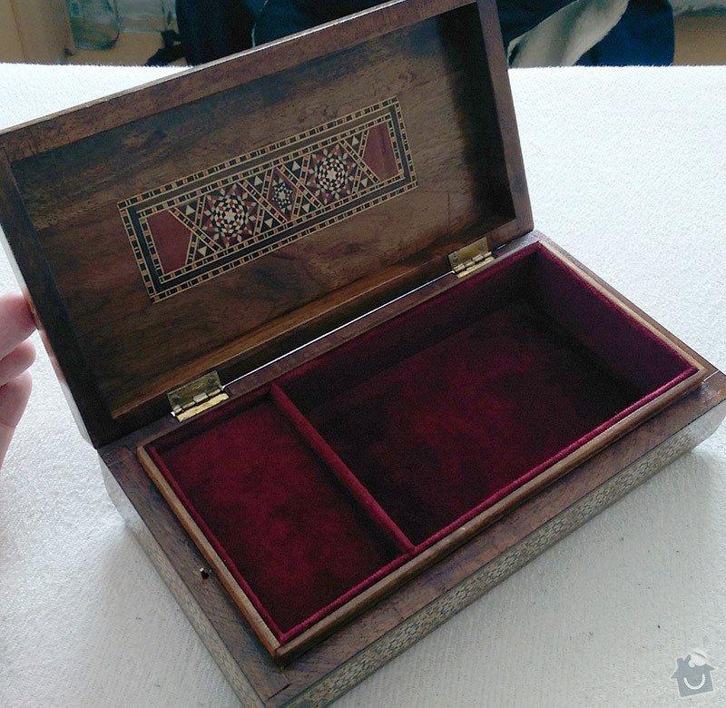 Intarzovaná hrací skřínka: 2