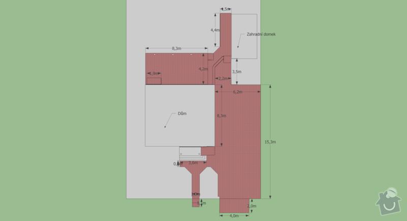 Zámková dlažba 170 m2: dlazba_pudorys