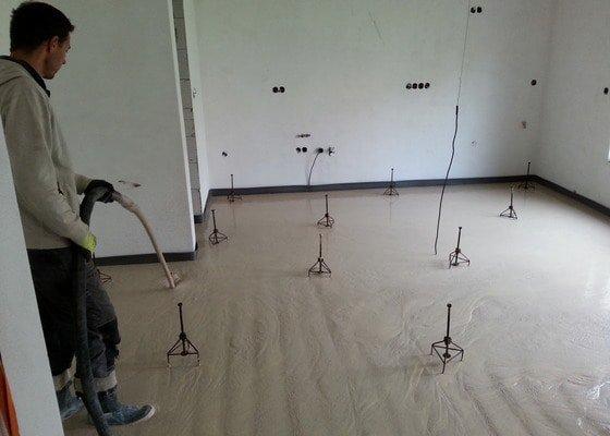 Anhydritová litá podlaha – 5/2014 RD Brno Rysova, 82 m2