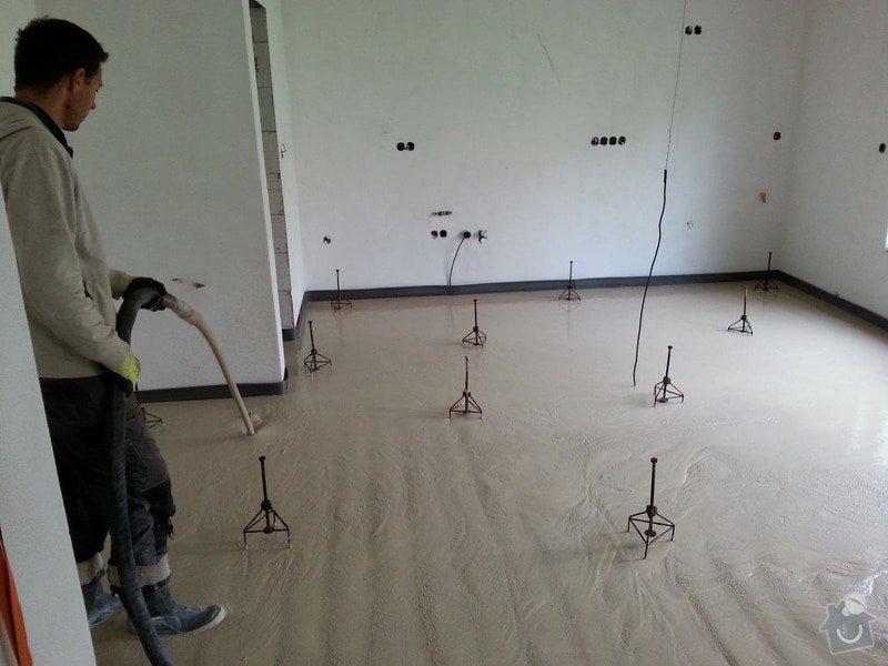 Anhydritová litá podlaha – 5/2014 RD Brno Rysova, 82 m2: 20140507_094238