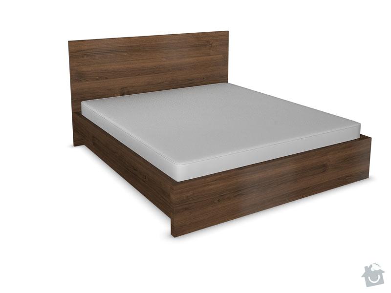 Zhotovení rámu manželské postele s úložným prostorem a nočních stolků: Postel_foto_