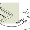 Zhotoveni ramu manzelske postele s uloznym prostorem a nocnic postel schema