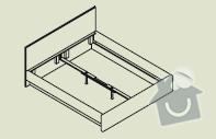 Zhotovení rámu manželské postele s úložným prostorem a nočních stolků: Postel_3_foto_