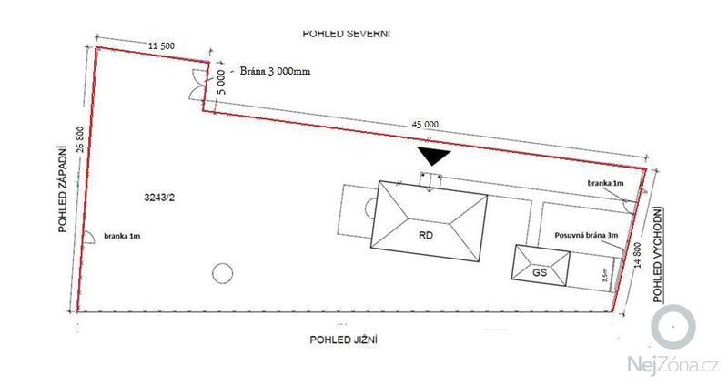 Stavba oplocení RD včetně posuvné brány: Vykres_stavby_plotu