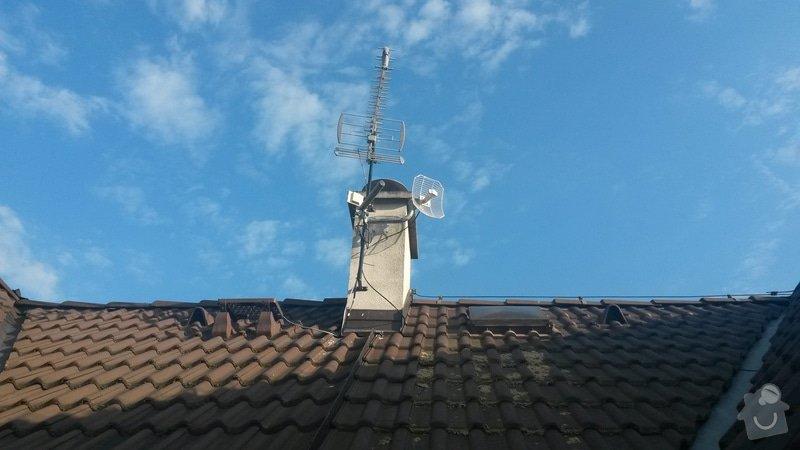 Instalace anténního stožáru na šikmou střechu: 20140601_184034