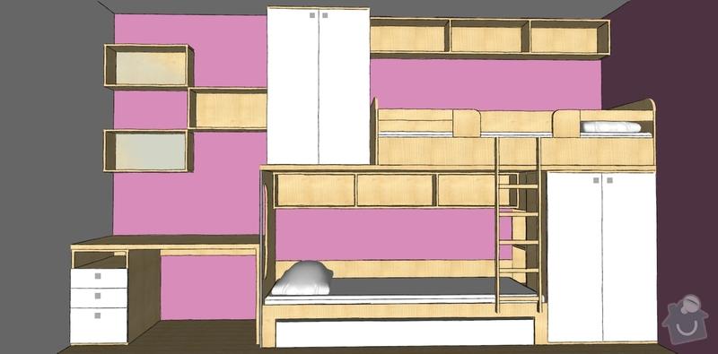 Výroba a částečně návrh nábytku do dětského pokoje: Predstava_dratak