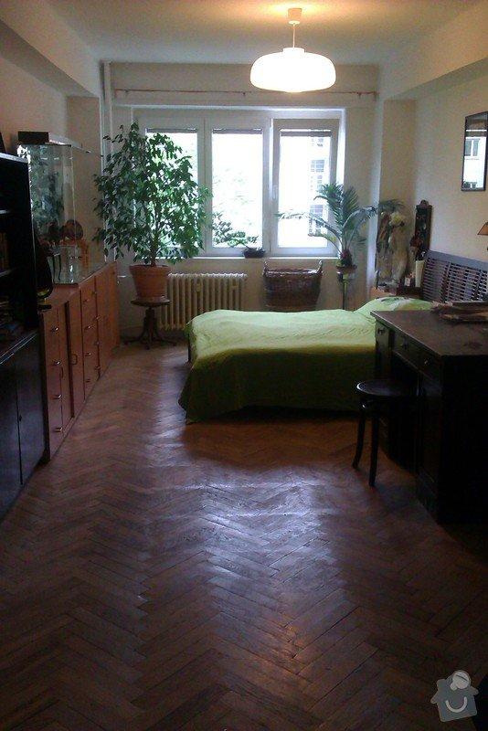 Návrh dispozičního řešení (interiéru) dvou pokojů : Vetsi_pokoj_1