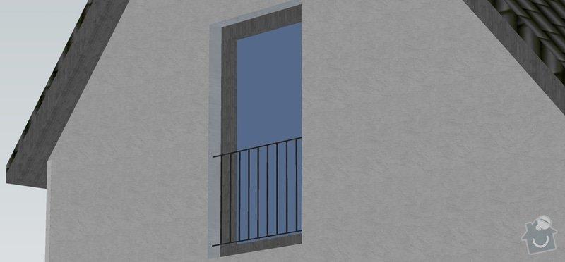 Venkovní zábradlí pro 2 francouzská okna: zabradli_okna_vizualizace