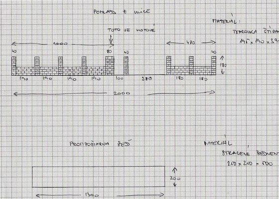 Stavba plotu a protipozarne zdi