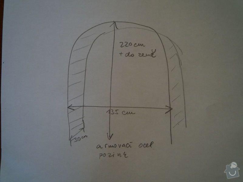 Zahradní kovový oblouk : oblouk_Narwa