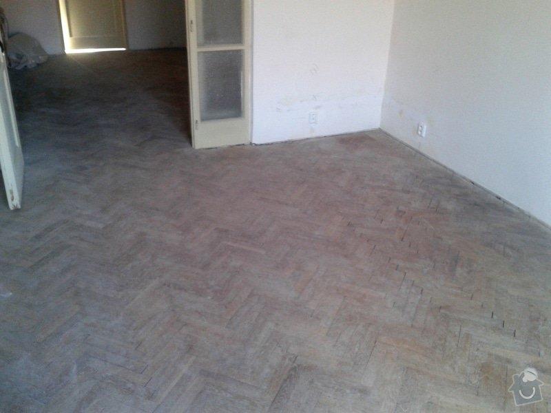 Pokládka plov.podlahy+dlažba: Pred
