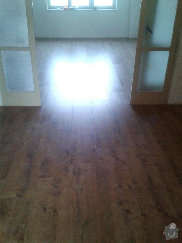 Pokládka plov.podlahy+dlažba: Po_II