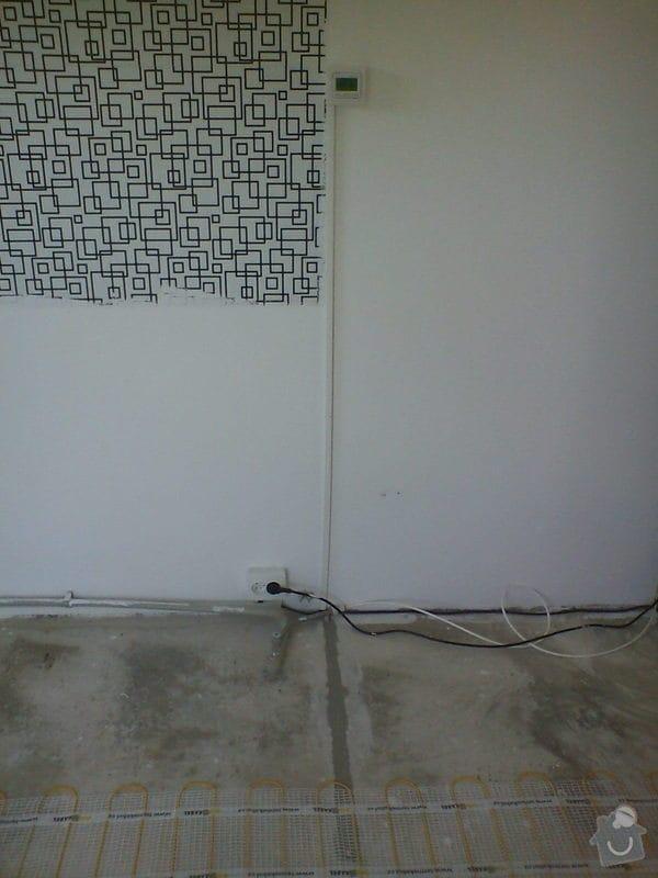 Instalace topné rohože: DSC01449