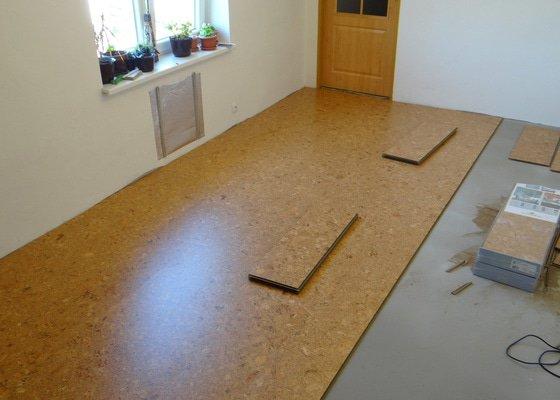 Pokládka korkové podlahy CorkComfort Xtreme WRT ( Bystřice nad Pernštejnem )