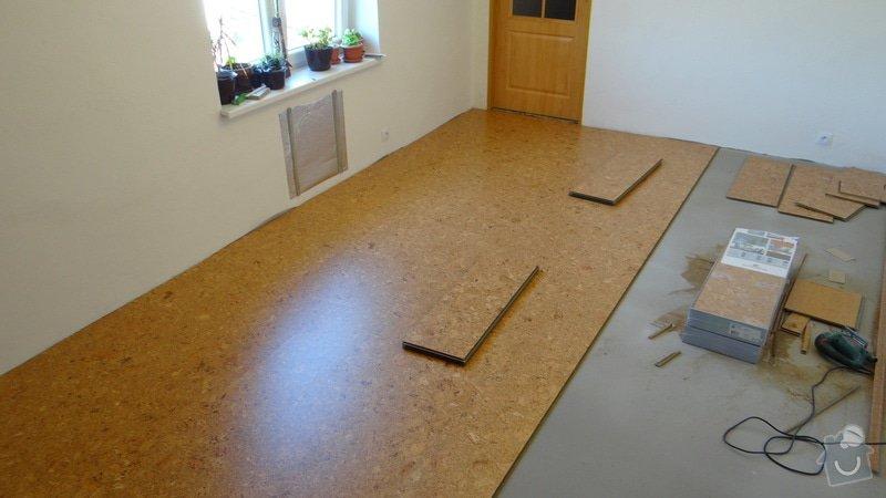 Pokládka korkové podlahy CorkComfort Xtreme WRT ( Bystřice nad Pernštejnem ): DSC04473