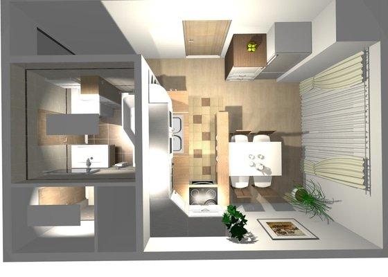 Rekonstrukce byt.jádra včetně kuch. linky