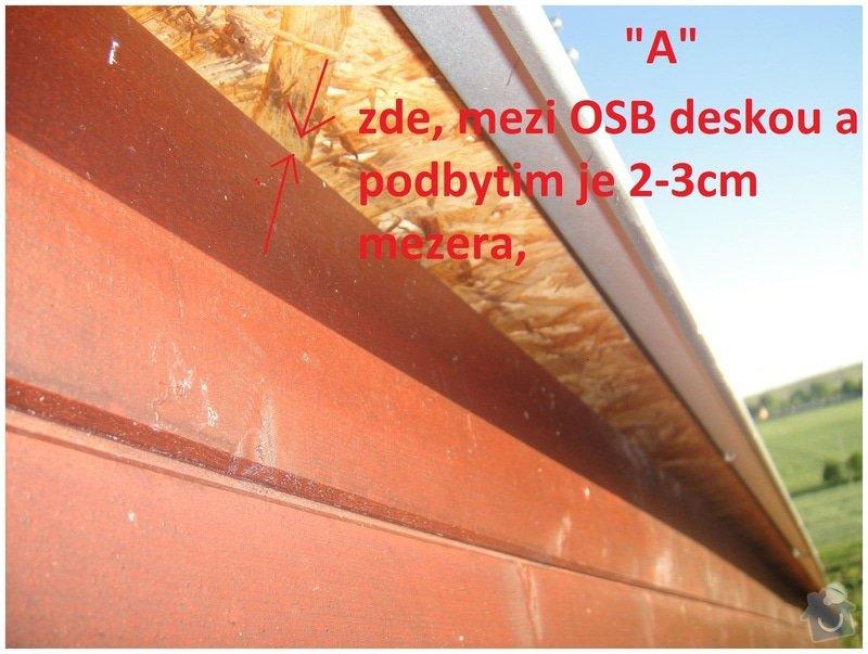 Oprava podbiti strechy + ochrana proti ptakum: podbyti003