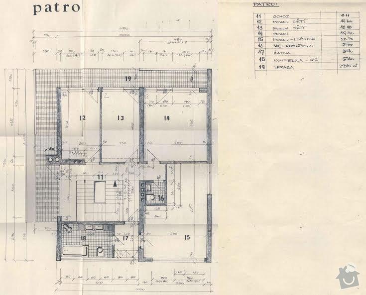Balkonový přístřešek a balkonové zábradlí. Kov, ne dřevo.: pudorys_1.patro