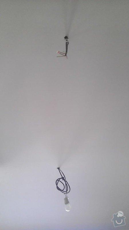 Drobné elektrikářské práce instalace 4 svítidel: IMAG4128