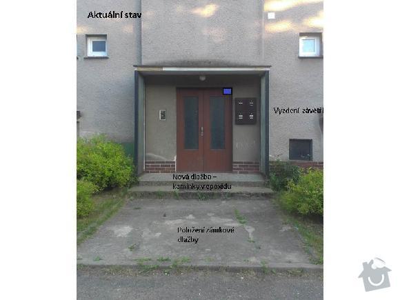 Rekonstrukce vchodu bytoveho domu: Vchod-soucasny_stav