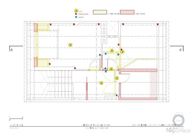 Rekonstrukce podkroví: elektroinstalace_puvodni