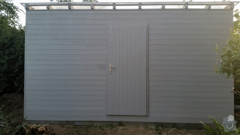 Výroba dřevěnného zahradního domku 2,3mx4,6m: 2014-06-09_18.48.16