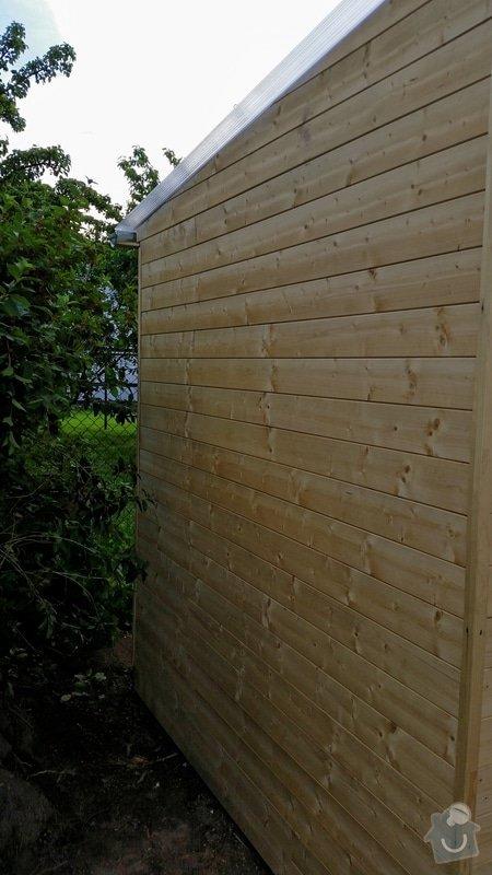 Výroba dřevěnného zahradního domku 2,3mx4,6m: 2014-06-09_18.49.06