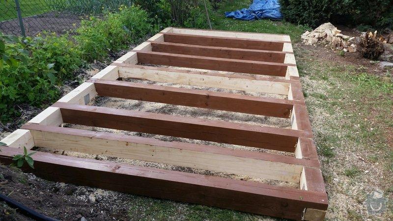 Výroba dřevěnného zahradního domku 2,3mx4,6m: 2014-06-09_18.56.31