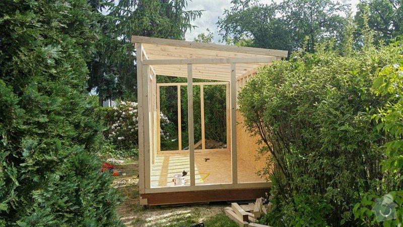 Výroba dřevěnného zahradního domku 2,3mx4,6m: 2014-06-09_18.57.18