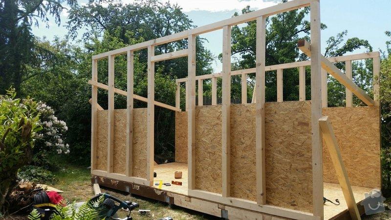 Výroba dřevěnného zahradního domku 2,3mx4,6m: 2014-06-09_18.58.03