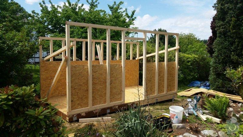 Výroba dřevěnného zahradního domku 2,3mx4,6m: 2014-06-09_19.00.13