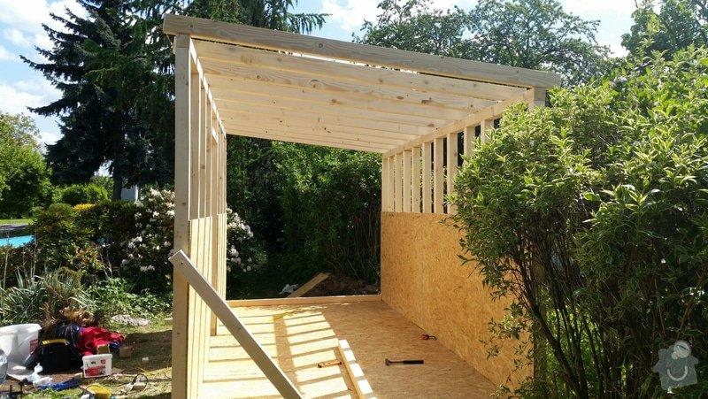 Výroba dřevěnného zahradního domku 2,3mx4,6m: 2014-06-09_19.01.06