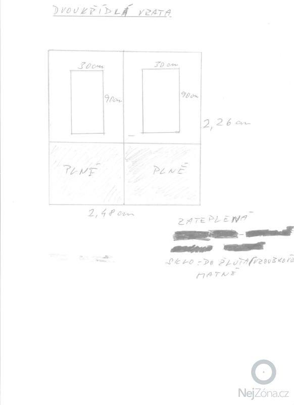 Dřevěná dvoukřídlá a jednokřídlá vrata: Vrata_002