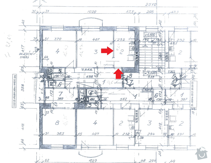 Zednické práce (bourání, zdění): byt_-_oznaceni